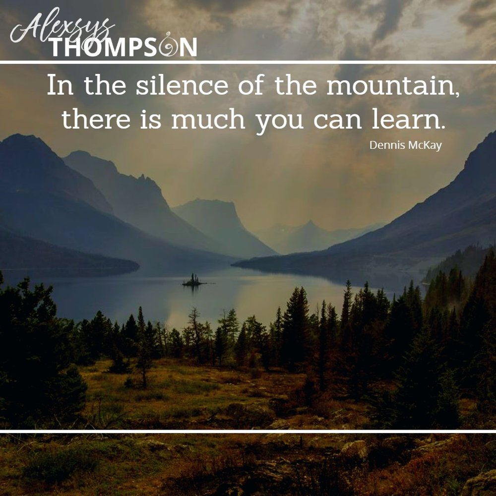 In the silence of the mountain there is much you can learn. - Dennis Mckay